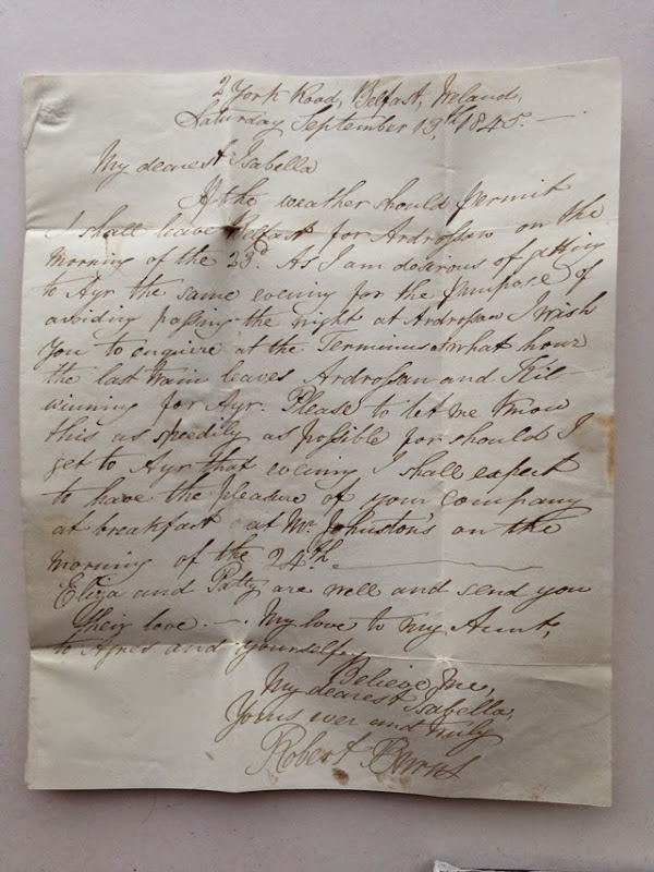Robert Burns Jr Letter 3