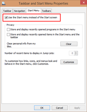 Windows 10 - Use the Start menu instead of the Start screen (www.kunal-chowdhury.com)