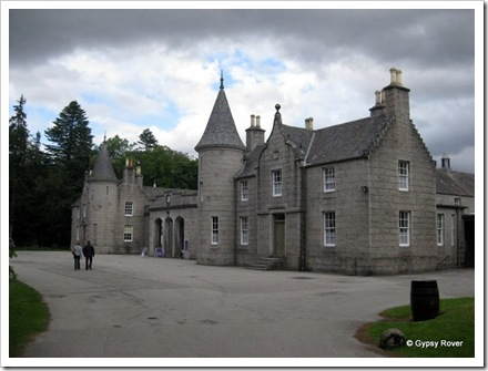 The entrance to the old stables and carriage store at Balmoral castle.