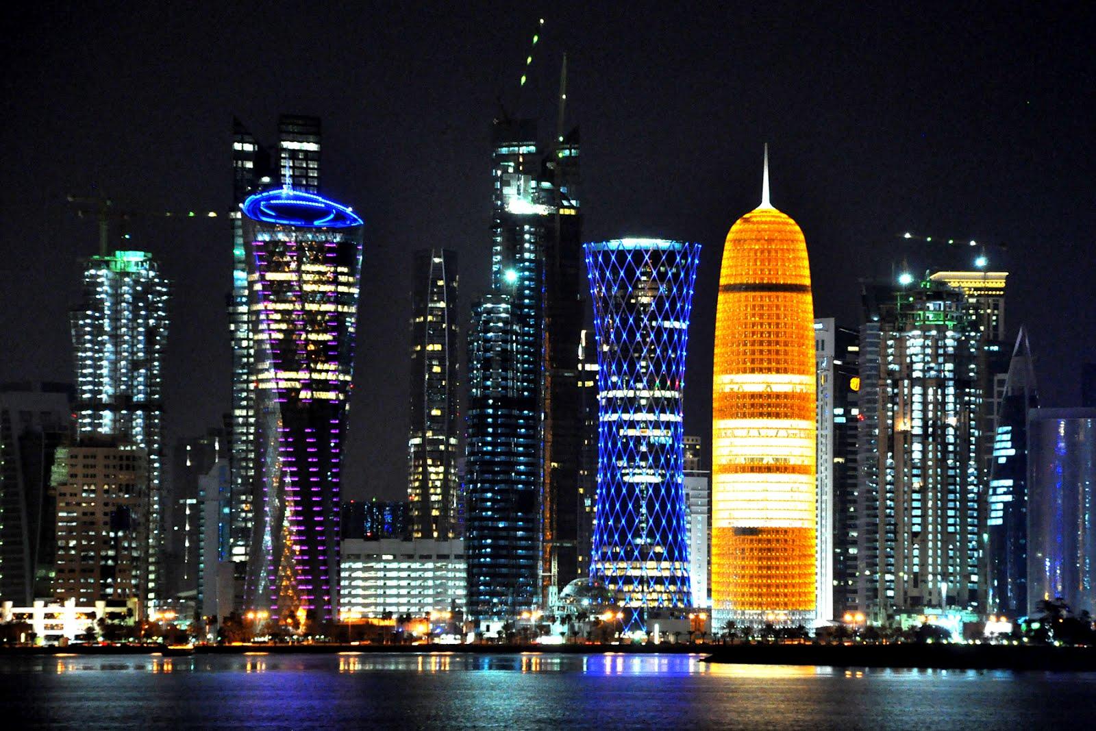 Skyline de Doha, capital de Qatar