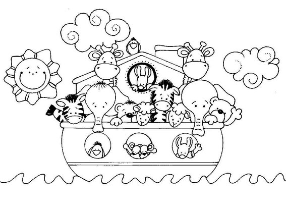 Desenhos Arca De Noe Para Colorir Colorir E Aprender
