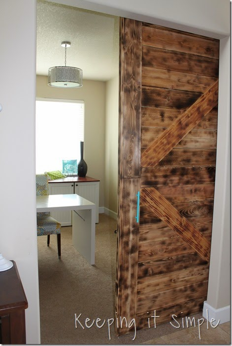 How to Build a Large Modern Barn Door • Keeping it Simple