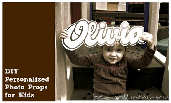 DIY Personalized Photo Props for Kids