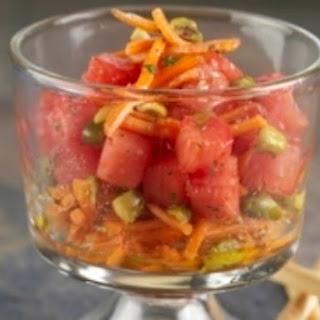 Carrot, Pistachio and Watermelon Salad