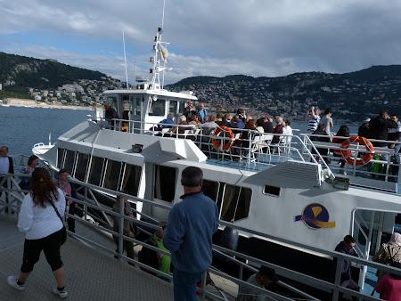 Vas pentru debarcare in Villefranche de pe vasul de croaziera