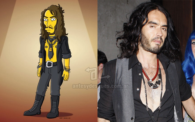 Simpsons version ofRussell Brand