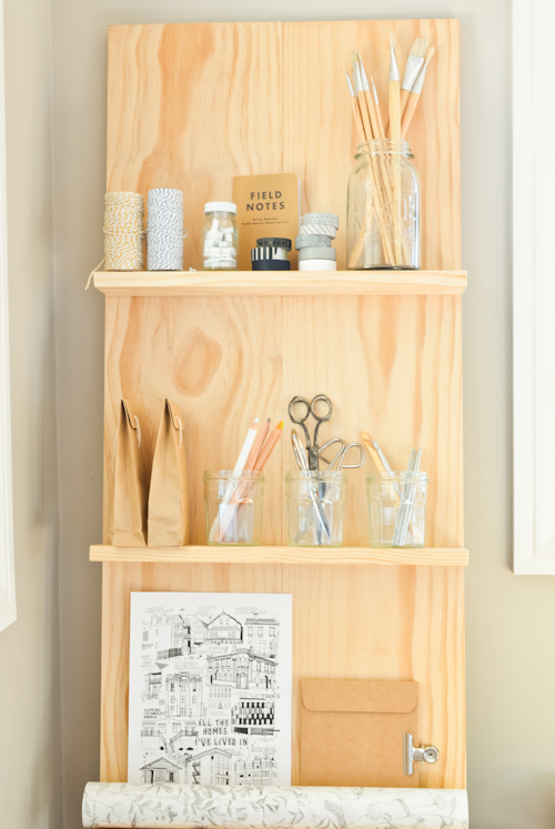 scandi home diy shelf system for the study