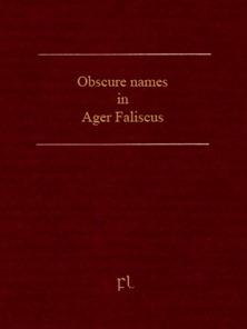 Obscure names in Ager Faliscus Cover