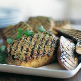 Lemongrass Pork Chops and Eggplant.