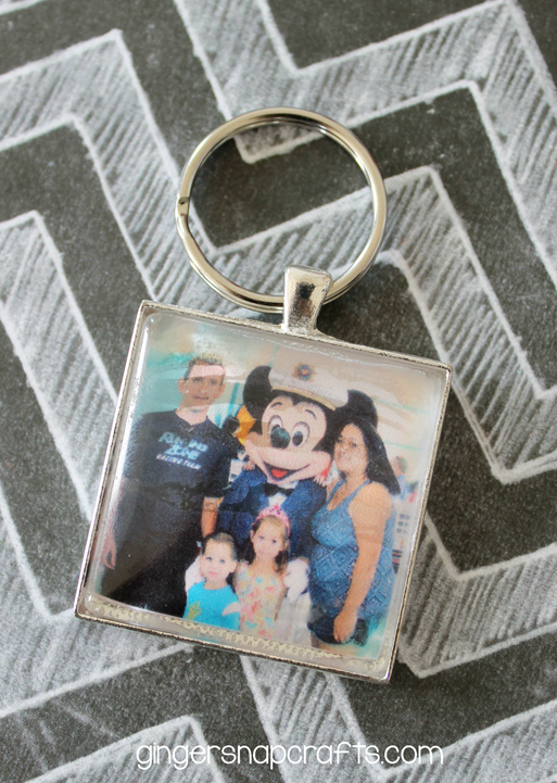 DIY Photo Key Chain Tutorial at GingerSnapCrafts.com #photo #keychain #tutorial