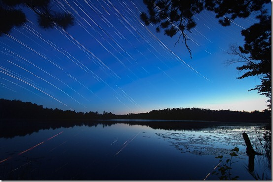 Cunard Lake Star Trails edit