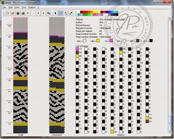 Dziergadełka JPo: Zebra w komplecie