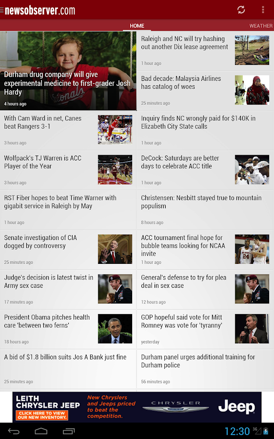 News & Observer (N&O): Mobile - screenshot