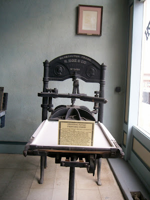 printing press of the Tombstone Epitaph