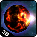 Planet Fire 3D Live Wallpaper icon
