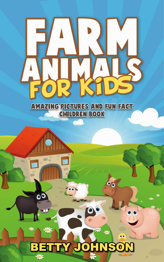 farm animals for kids   kindle ebook by betty johnson