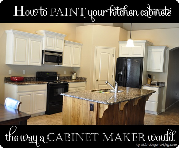 How To Paint Your Kitchen Cabinets Professionally All Things Thrifty