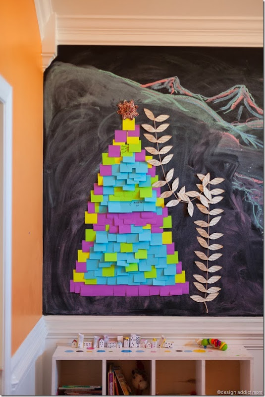 DIY Alternative Post its Christmas Tree