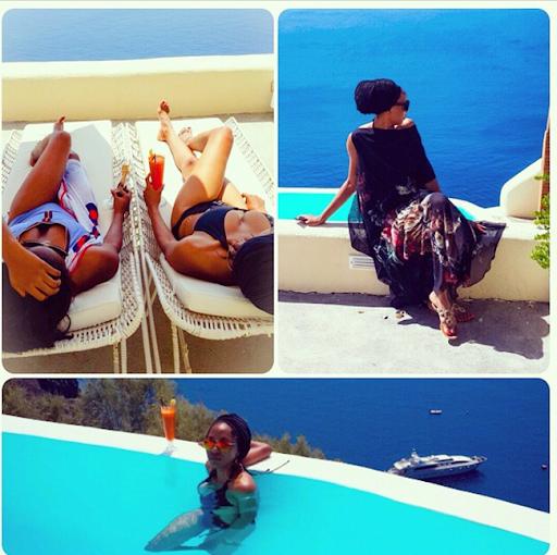 PHOTOS: Sylvia Nduka And Ene Maya's Vacation in Santorini Greece 14