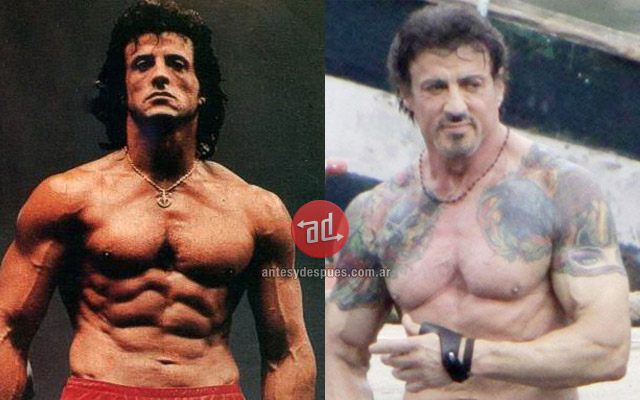 Sylvester Stallone before and after