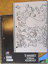 Roaring Spring Color Me notebooks compared to cheapie notebooks at Homeschooling Hearts & Minds