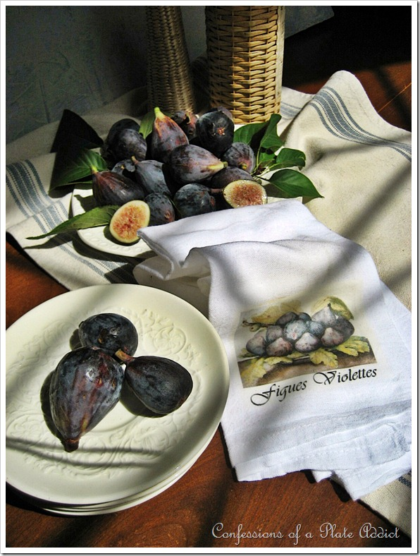 tea towel and figs