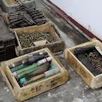 Caisses des explosifs et des minutions dans un dépôt d'armes à Kinshasa. Radio Okapi/ Ph. John Bompengo