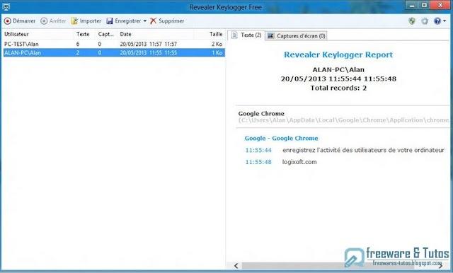 Revealer Keylogger Free : un logiciel pour surveiller tout ce qui est tapé sur le clavier de votre PC