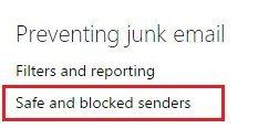 cách chặn email outlook