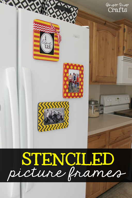 How to Stencil Frames with GingerSnapCrafts.com #tutorial #decoratingwithpictures