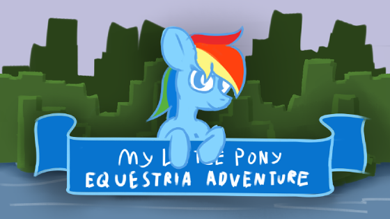 The Equestria Adventure title screen