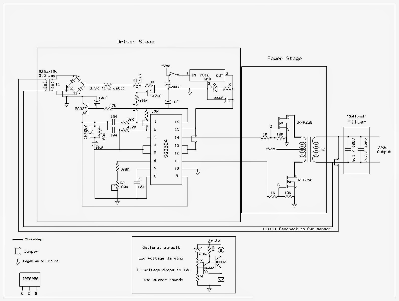 Simple Inverter Schematic Diagram Use Mj2955 Eleccircuit Wire Portable Generator Sears Wiring No 74149a And Parts Circuit Using Sg3524 Schematics