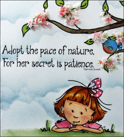 Sassy Cheryl's Stamps, Patience Secret, Noah's Tire Swing, Flower Soft, Spellbinders