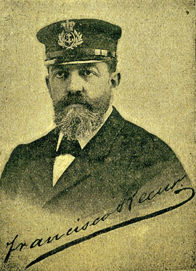 Foto autografiada de Francisco Recur. De la Revista de Navegacion y Comercio. 15 de Enero de 1.897.jpg
