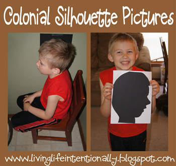 Colonial America Silhouette Pictures - History Projects for Homeschoolers