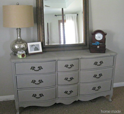 french linen dresser close