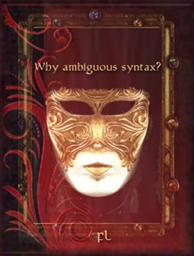 Why ambiguous syntax Cover