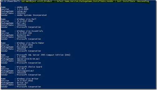 New Delhi PowerShell User Group : Find the List of Installed