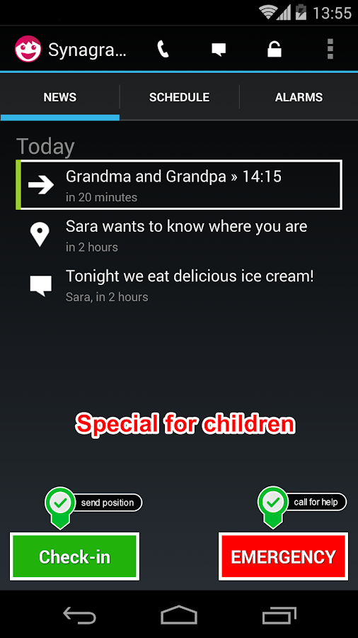 Synagram - Family Locator- screenshot