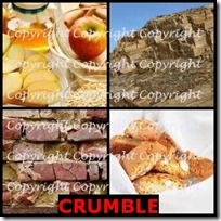 CRUMBLE- 4 Pics 1 Word Answers 3 Letters
