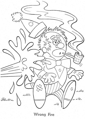 palhaço-colorir-Clowns To Color-coloring page-00026