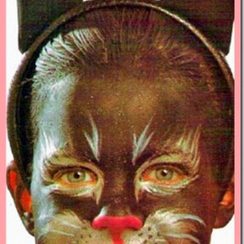 Pintacaritas gato para niños paso a paso