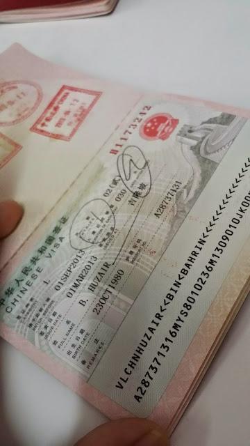 visa china, bagaimana mohon visa china, dimana mohon visa china, berapa bayaran visa china, guangzhou, borong china