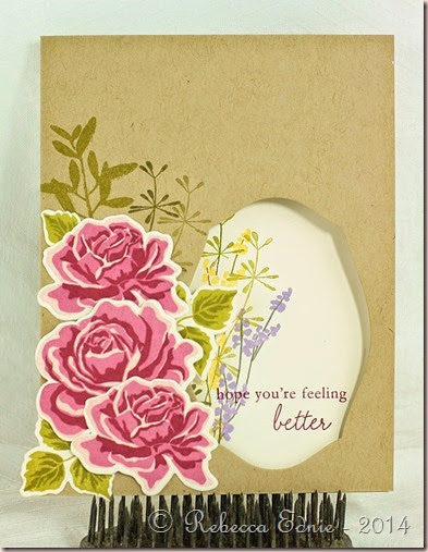 rose bouquet window card