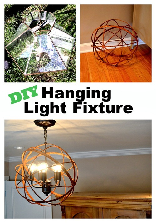 DIY orb light fixture