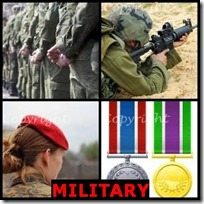 MILITARY- 4 Pics 1 Word Answers 3 Letters