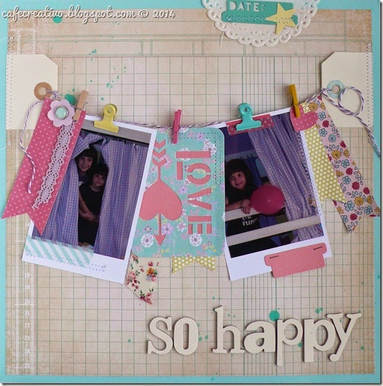 cafe creativo - scrapbooking - so happy