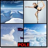 POLE- 4 Pics 1 Word Answers 3 Letters