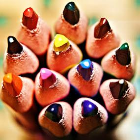 Coloured Pencils by Chris KIELY - Artistic Objects Other Objects ( colour, pencil, colourful, coloured, color, colorful, pencils,  )
