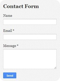 contact form blogger